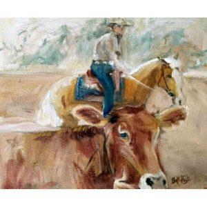 Cream Cow and Horse 1